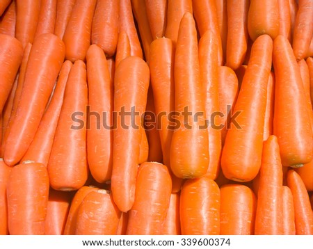 Fresh carrot in the grocery store - stock photo