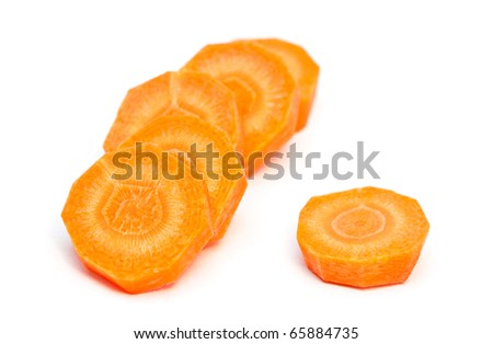 Fresh carrot isolated on a white background.