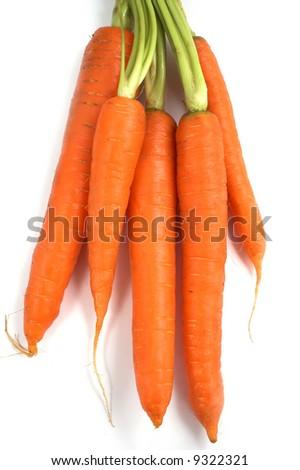 Fresh carrots - stock photo