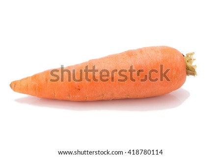 fresh carrots isolated on white background.