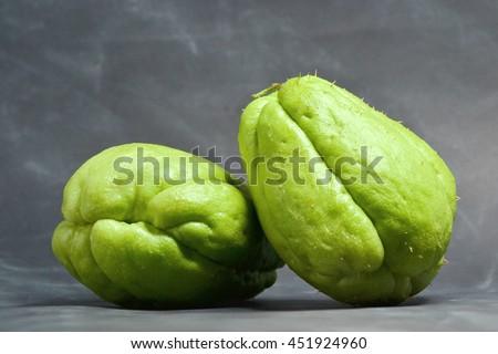 fresh chayote fruits - stock photo