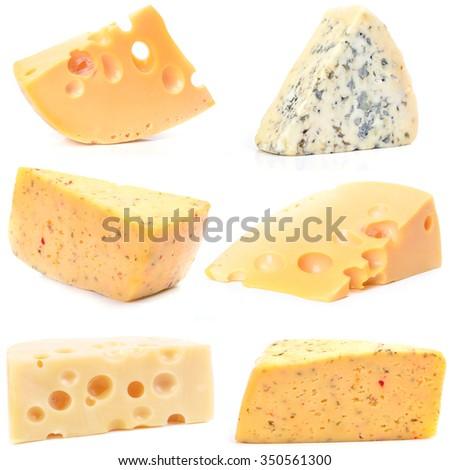 Fresh cheese - stock photo