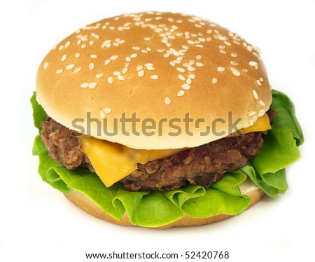 Fresh cheeseburger isolated