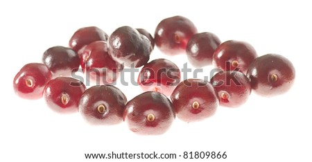 fresh cherries isolated on a white background