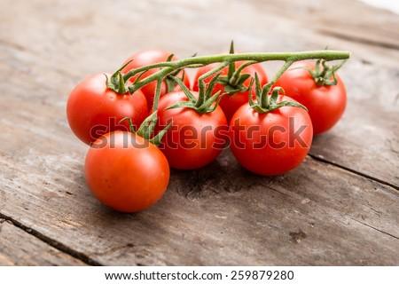 Fresh cherry tomato - stock photo