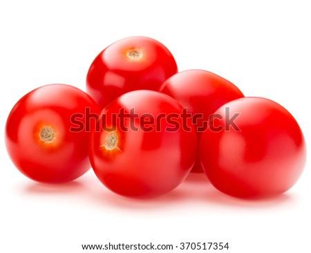 fresh cherry tomato isolated on white background cutout - stock photo