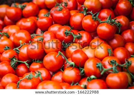 Fresh cherry tomatos in local market in Israel. - stock photo