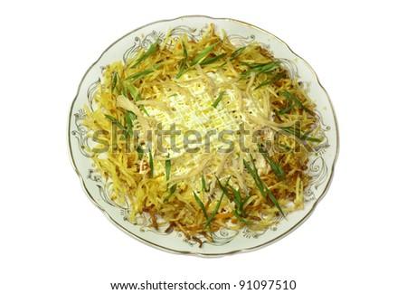 fresh chicken salad - stock photo
