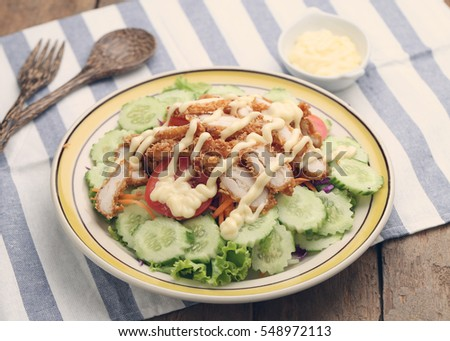 Fresh Chicken salad ,Healthy food.