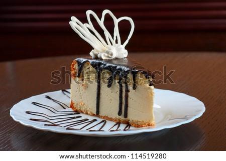 fresh chocolate cupcake - stock photo