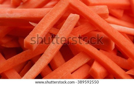 fresh chopped carrots close-up background - stock photo