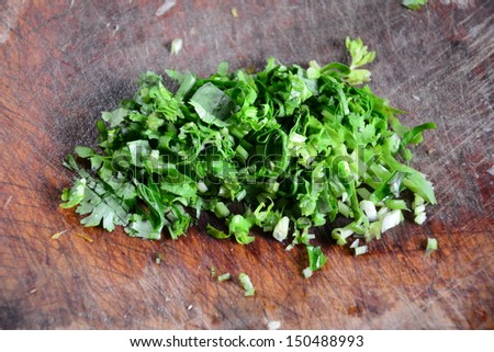Fresh Chopped coriander.