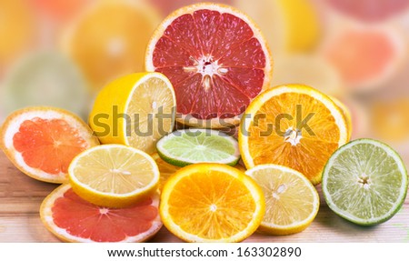 Fresh citrus fruit - stock photo