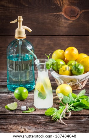 Fresh citrus fruits for cold drink