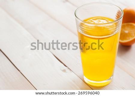 Fresh citrus juices, orange - stock photo