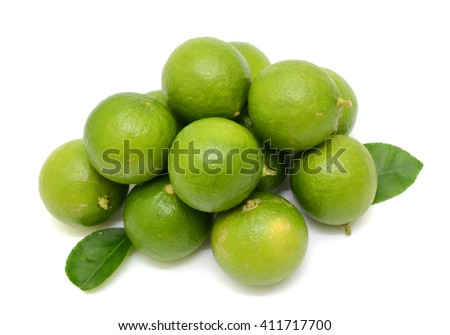 fresh Citrus lime fruits isolated on white background