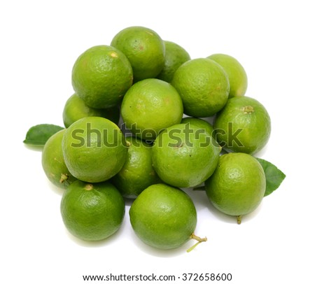 fresh Citrus lime fruits on a white background
