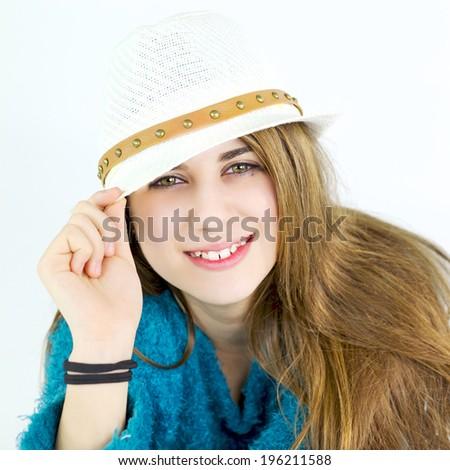 Fresh clean happy female teenager - stock photo