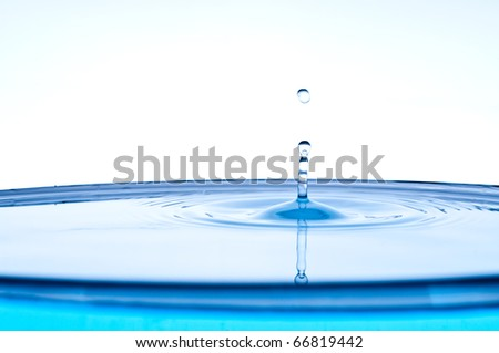 fresh clean water splash. macro - stock photo