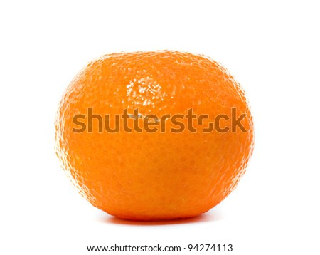 Fresh Clementine isolated on a white background - stock photo