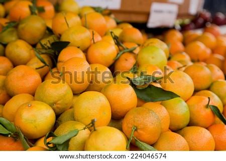 fresh clementines.  - stock photo