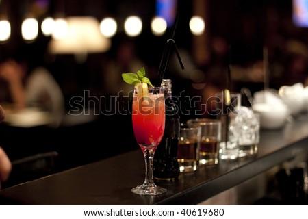 fresh cocktail - stock photo