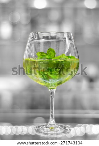 fresh cocktail in black and white background