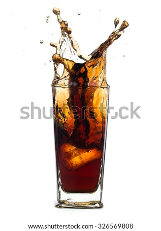 Fresh Cola  with splash isolated on a white background