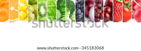 Fresh color fruits and vegetables