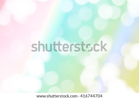 Fresh color of natural bokeh on smooth gradient background. Abstract wallpaper.