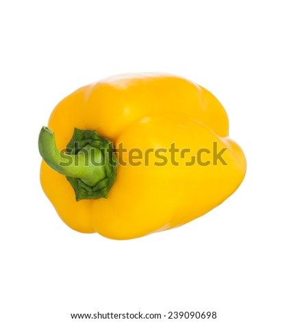 Fresh colorful sweet bell pepper ( capsicum ) isolated on a white background. - stock photo
