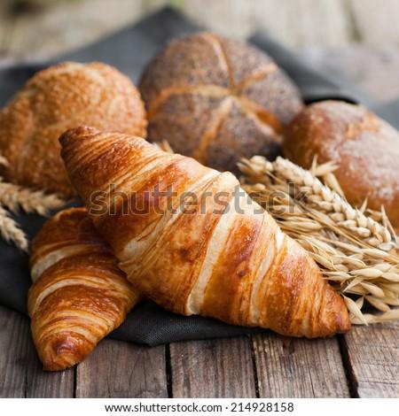 Fresh croissants - stock photo