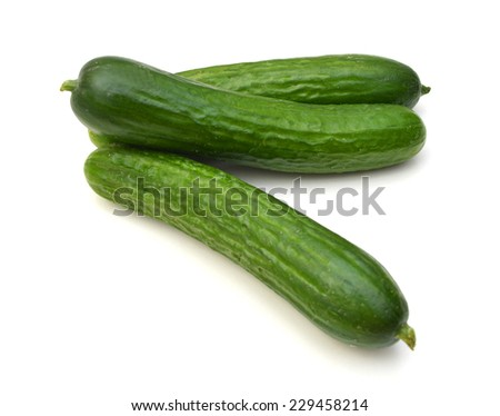fresh cucumbers. Isolated on a white background.