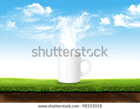 Fresh cup - stock photo