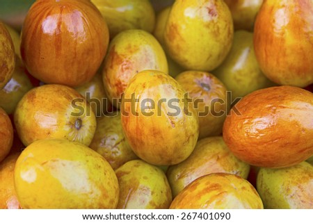 Fresh date fruits background  - stock photo