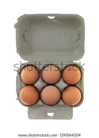 Fresh eggs isolated against a white background - stock photo