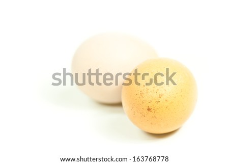 Fresh eggs isolated on white