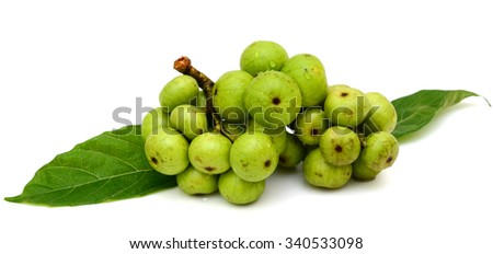 Fresh fig (Ficus glomerata) fruits isolated on white background