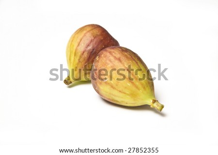 Fresh figs isolated on a white studio background.