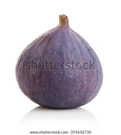 Fresh figs isolated on white background. - stock photo
