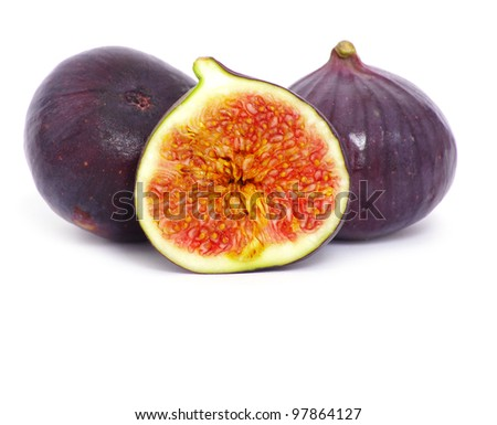 fresh figs isolated on white background