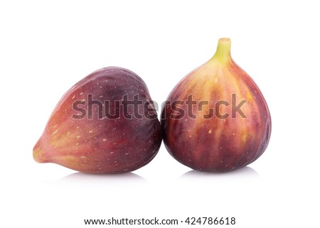 Fresh figs, sweed figs isolated on white background. - stock photo