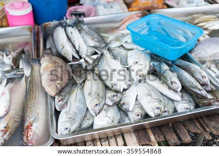 Fresh fish at the market