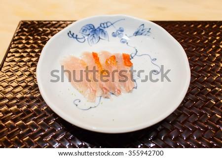 fresh fish slice - stock photo