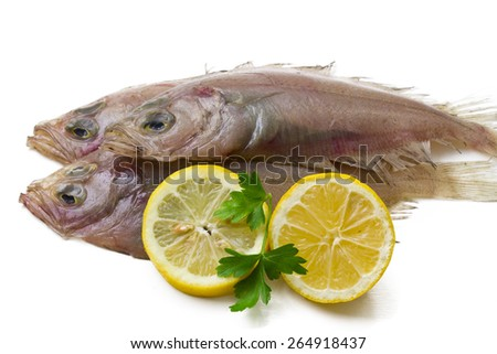 Fresh fish with lemon and parsley