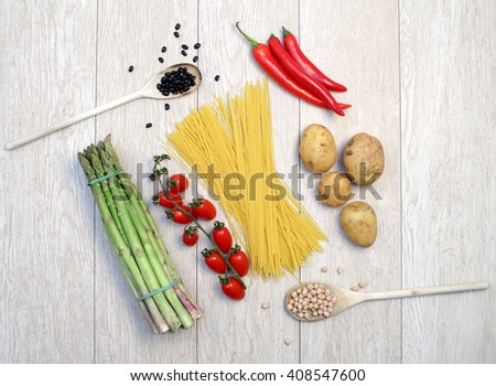 Fresh food - stock photo