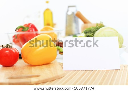 Fresh food and vegetables on the table