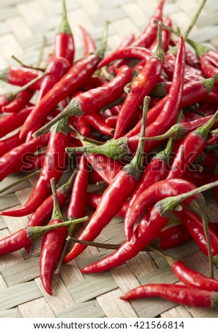 Fresh food ingredients,chili - stock photo