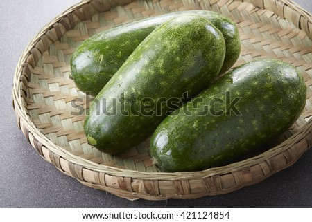 Fresh food ingredients,Melon - stock photo