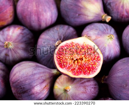 fresh fruit figs - stock photo